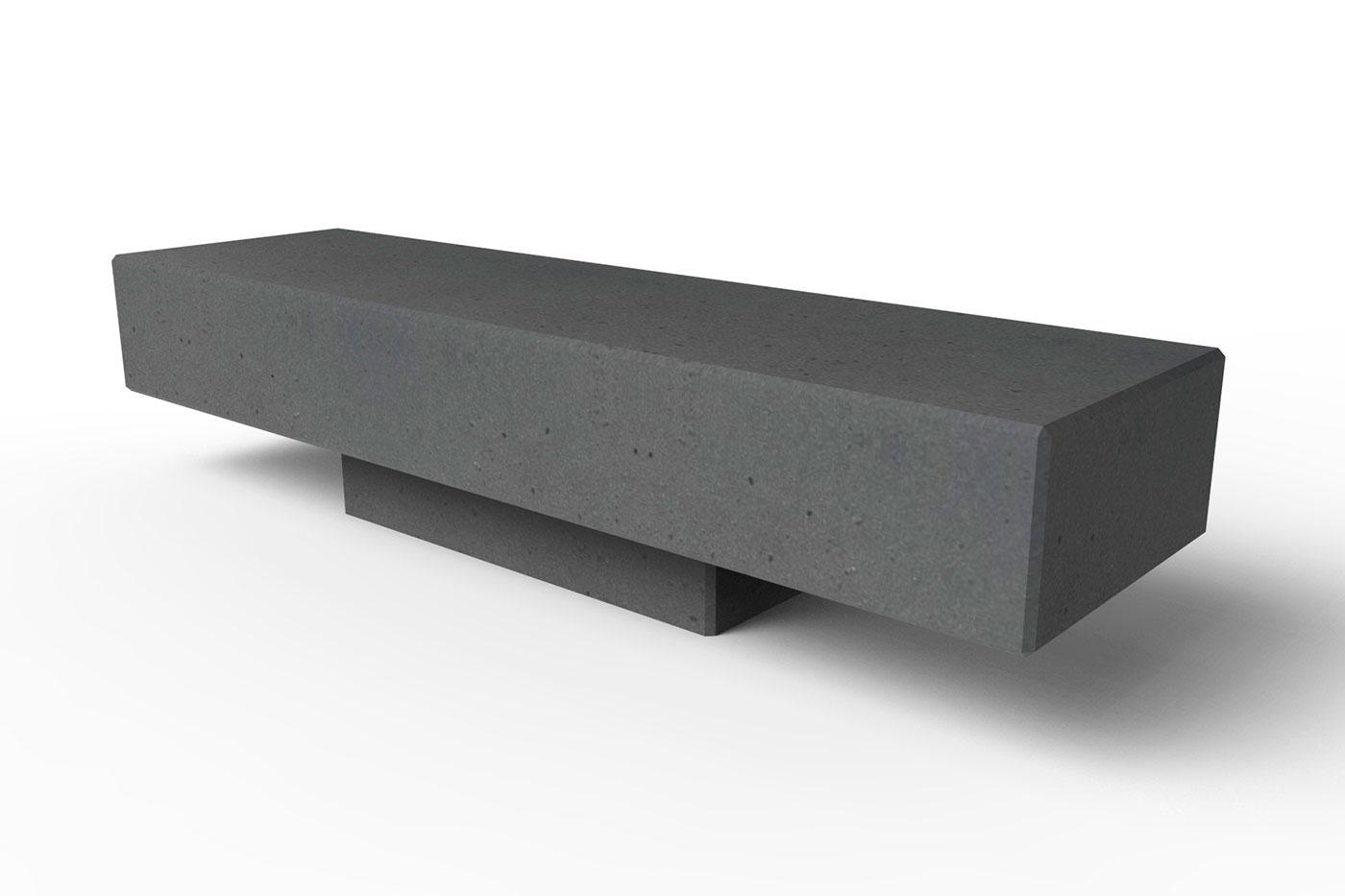 Скамейка из бетонных блоков. Тяжёлая и минималистичная.